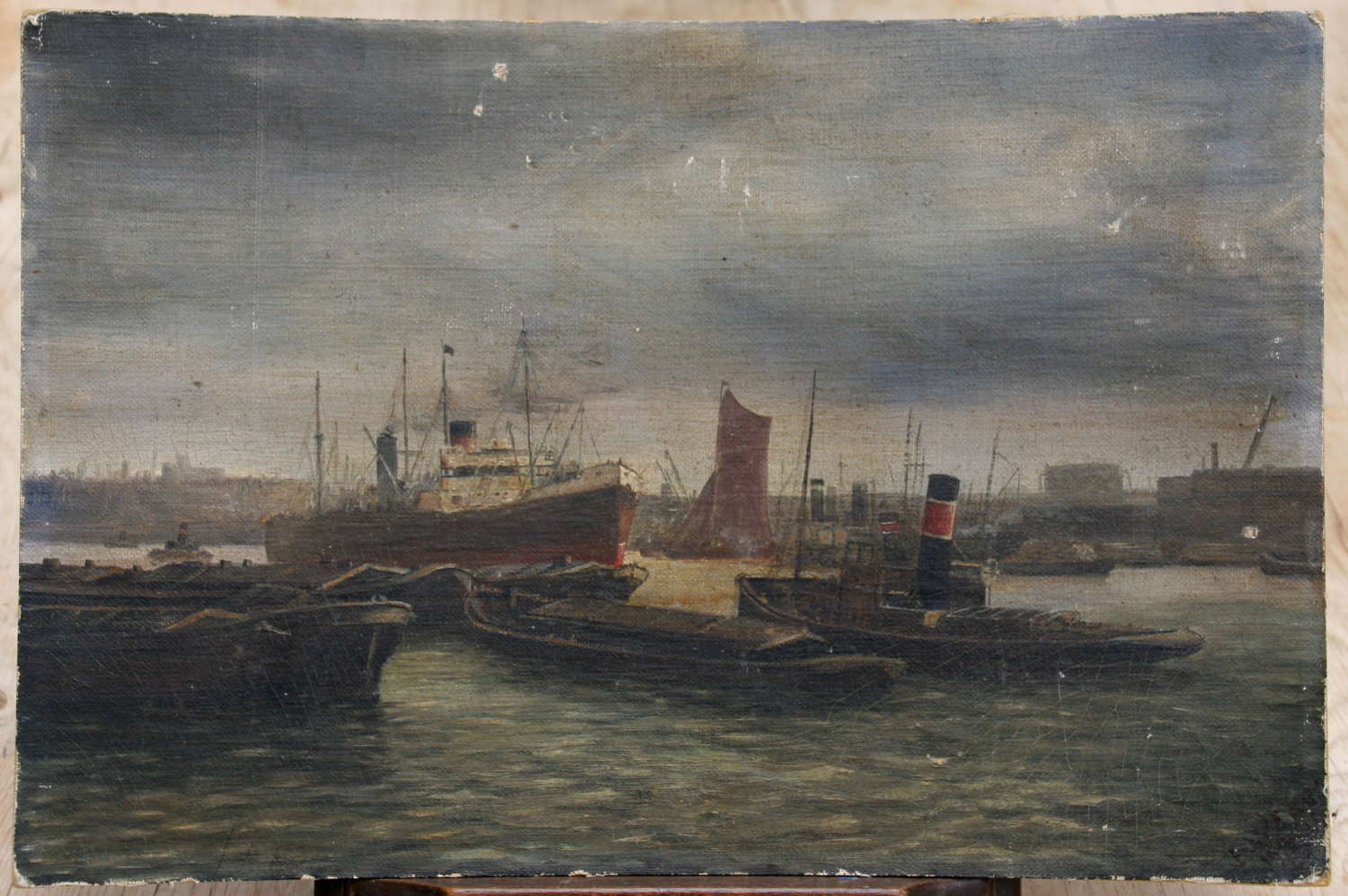 1920s Maritime Painting