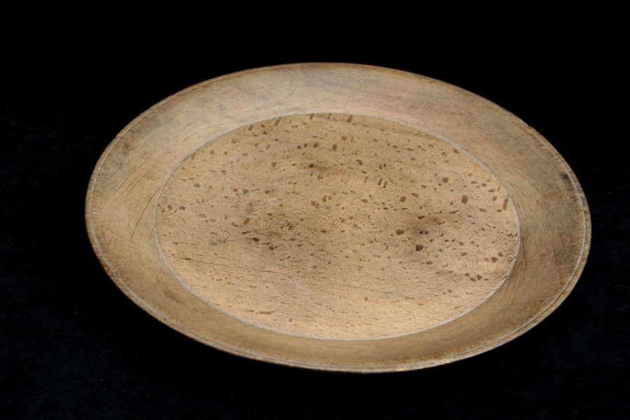 Swedish Treen Shallow Bowl , serving Dish, 19th century