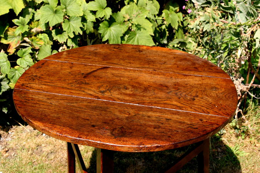 Cricket Table Oak English 18th Century