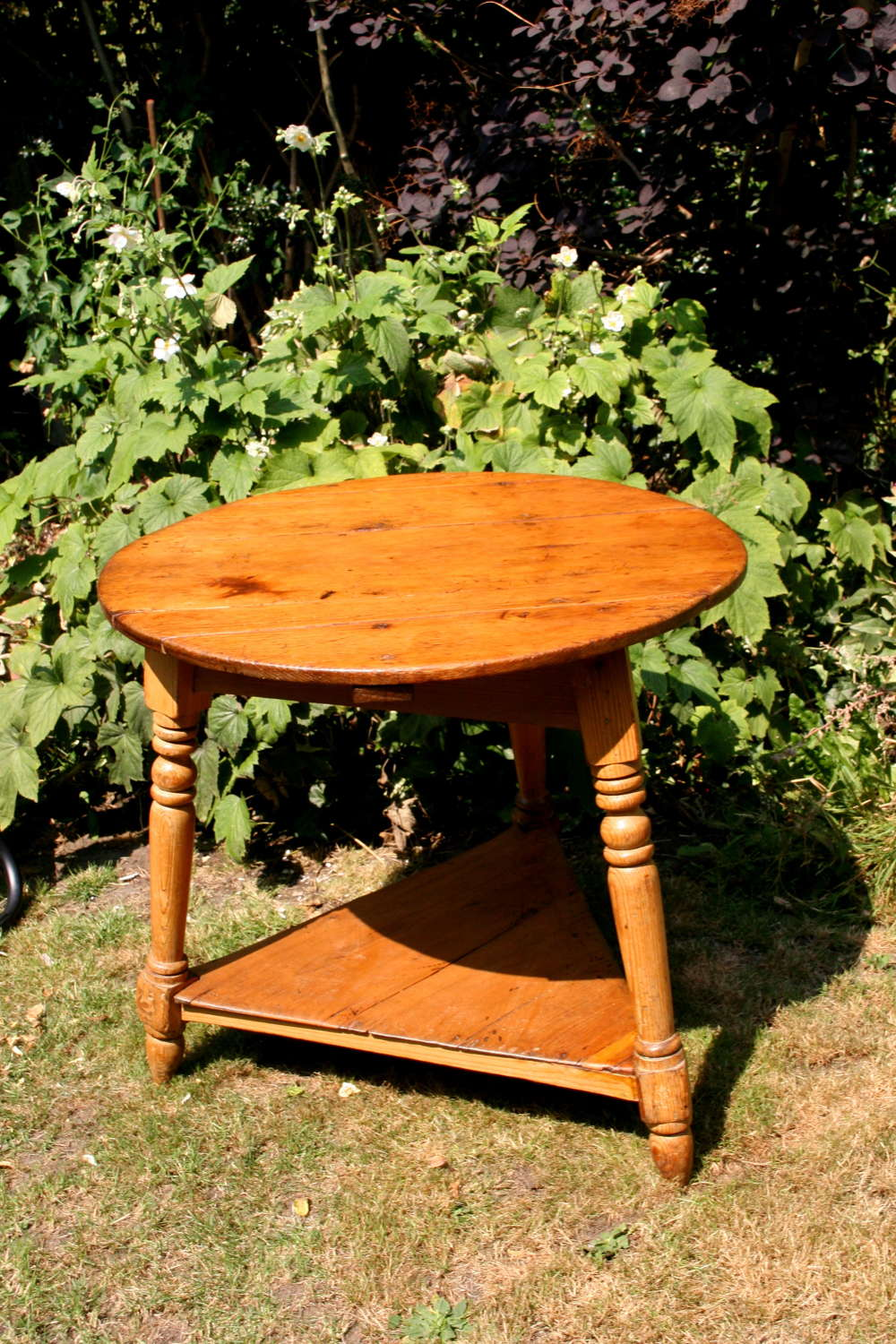 Pine Cricket Table English 1820-30