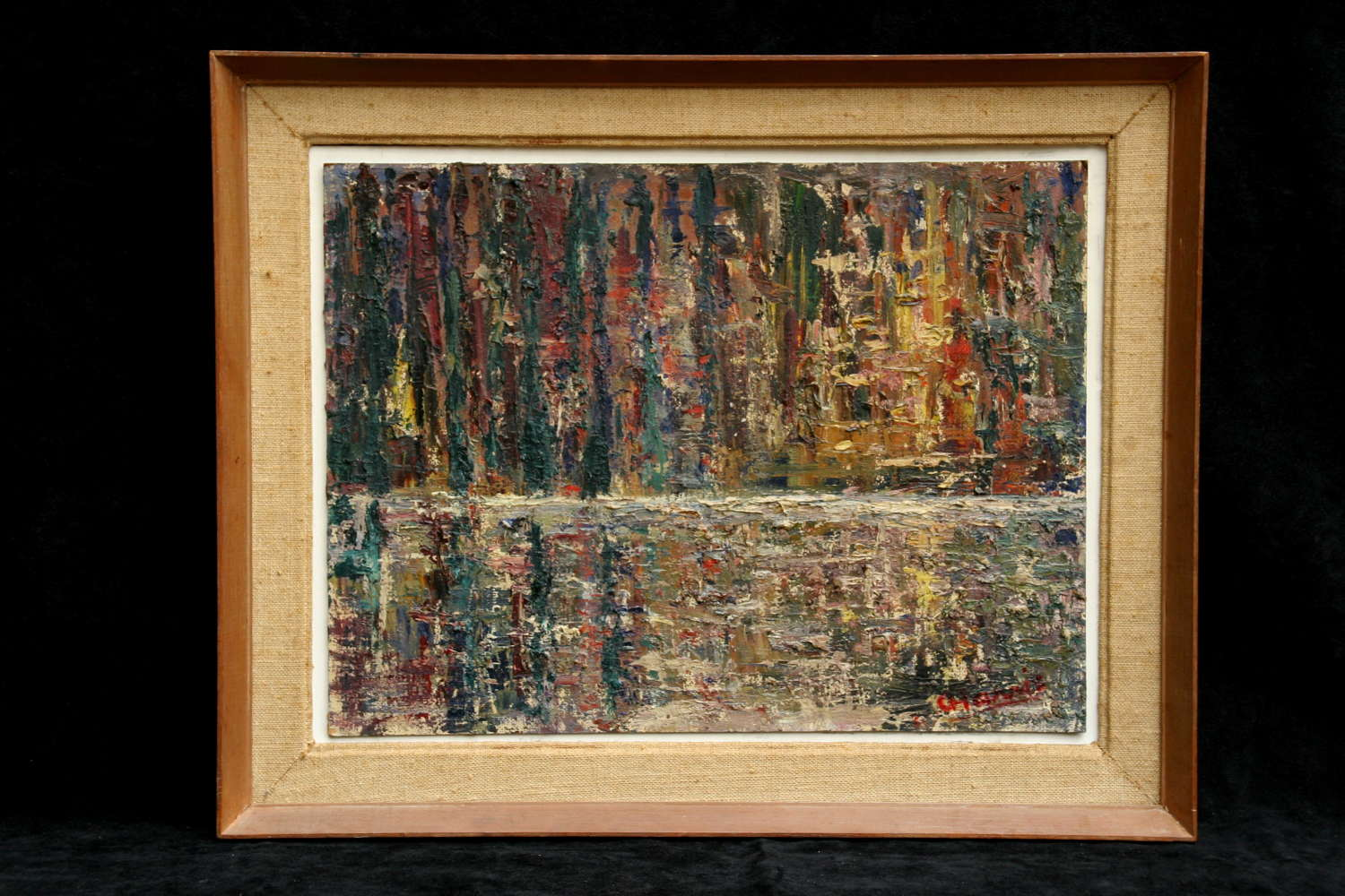 1960's / 70's Abstract oil by Adelaide Harris.
