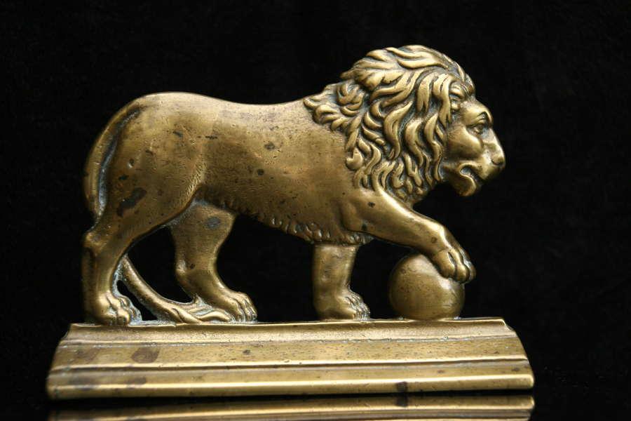 Victorian Brass Lion Chimney Ornament