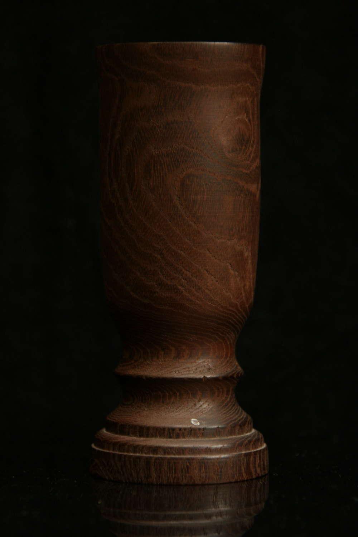 Treen Spill vase.19th century.