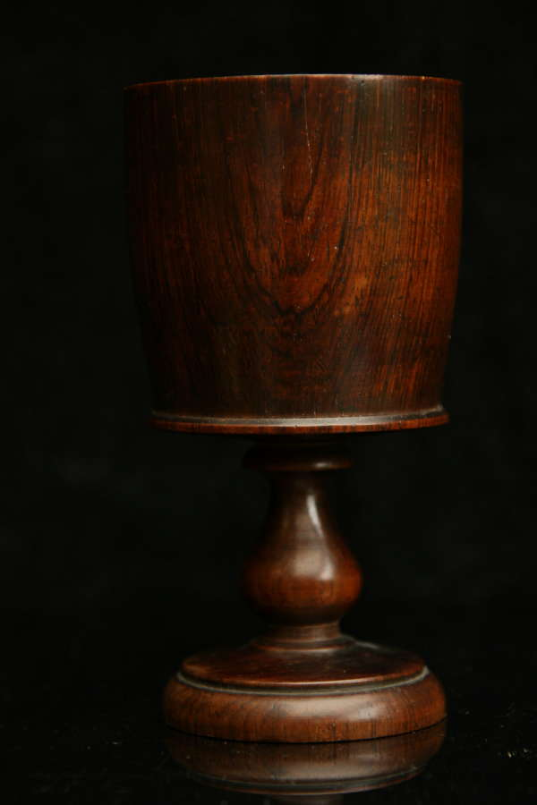 Treen early 19th century Wine Goblet