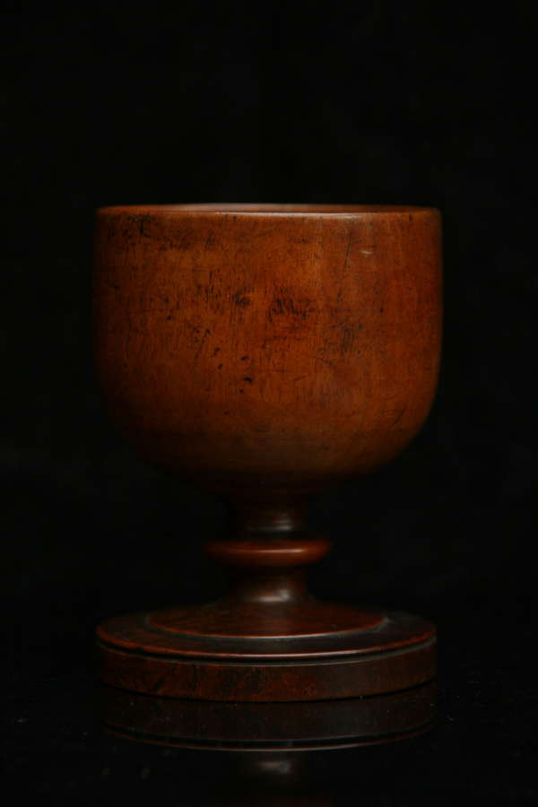 Treen Apple / pear wood Goblet c.1750