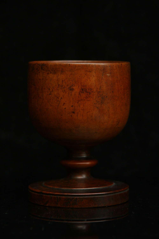 Treen Apple / pear wood Goblet c.1750