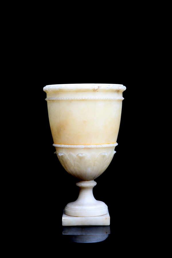 Alabaster Lidless Urn 19th century