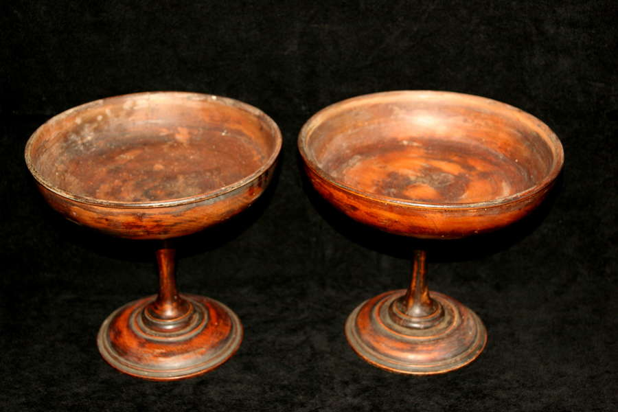 A pair of Treen Tazzas c.1900
