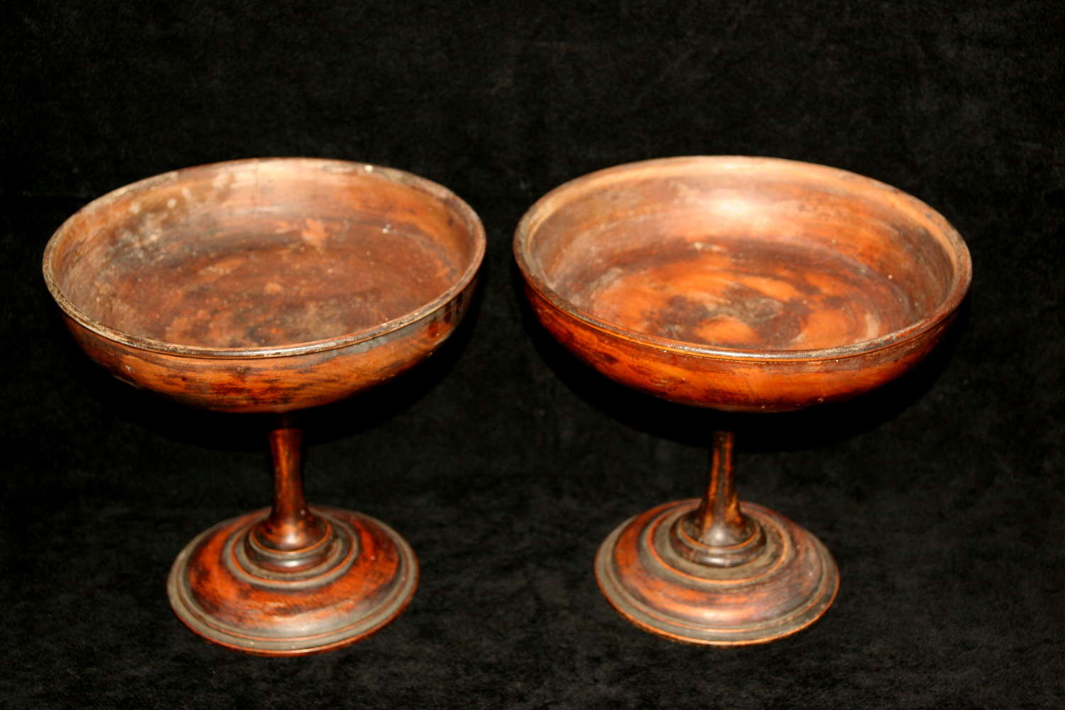 A pair of Treen Tazzas c.1900