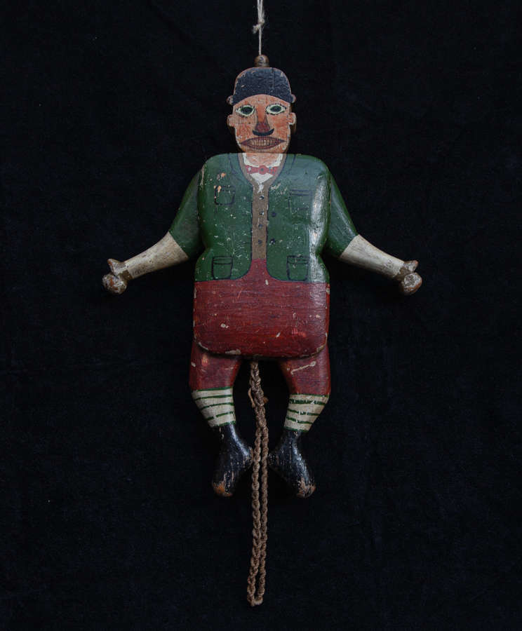 Painted Wooden Jumping Jack late 19th century