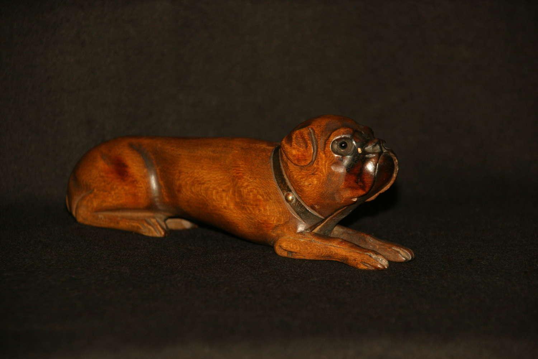 Treen Dog late 19th century