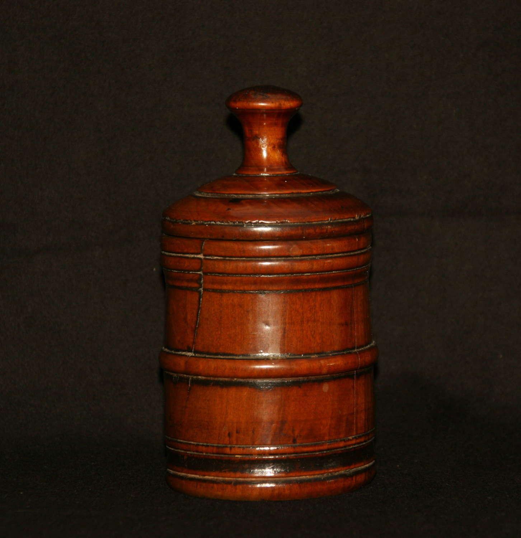 18th century fruitwood Treen Spice Pot