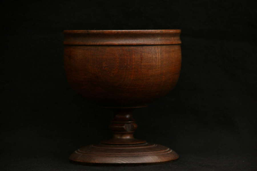 Treen English Ash Goblet c.1820