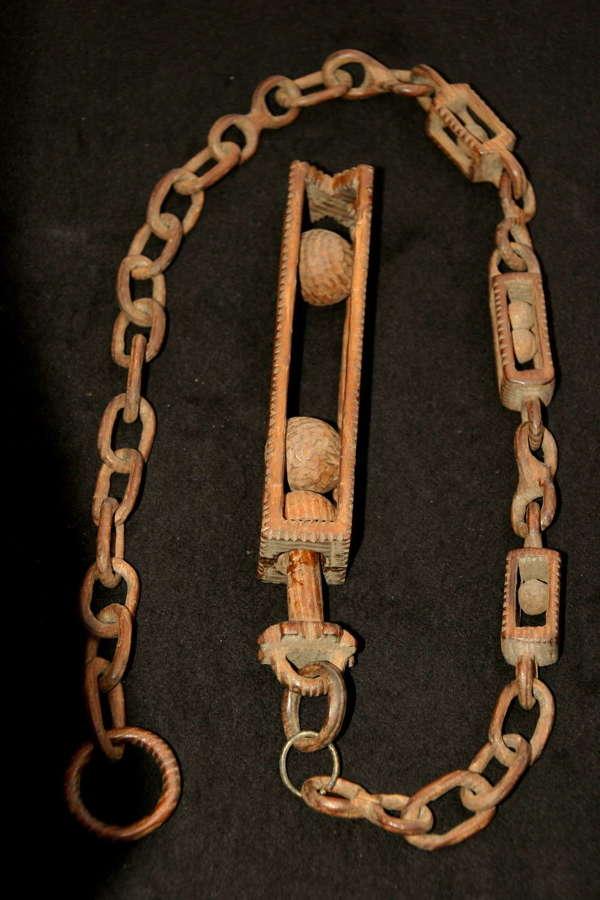 Treen Chain Tour de force 19th century