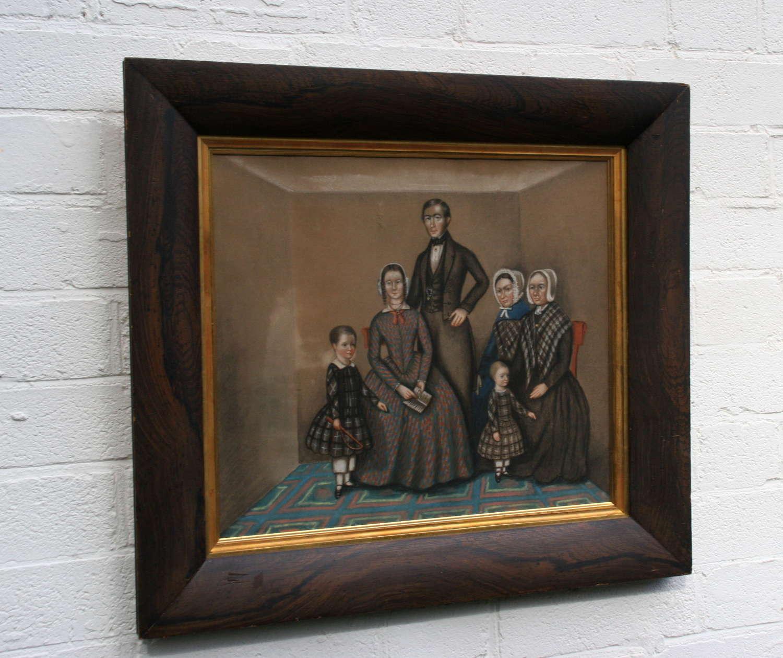 Dour Scottish Family Portrait, 19th century
