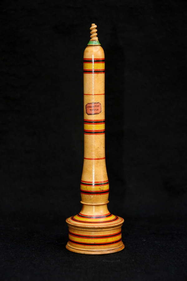 Tunbridge Whiteware Travelling chamberstick c.1840
