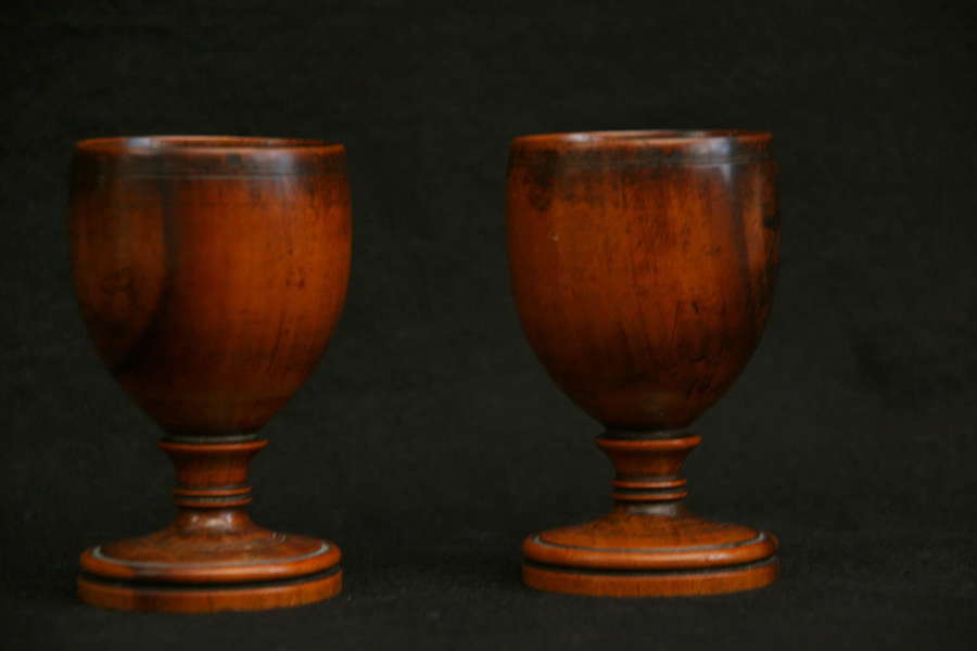 Pair of treen Egg Cups 19th Century