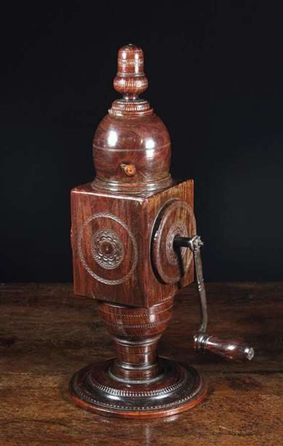 Treen Coffee Grinder 17th century
