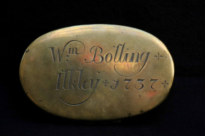 Brass Tobacco /  Snuff Box 18th Century