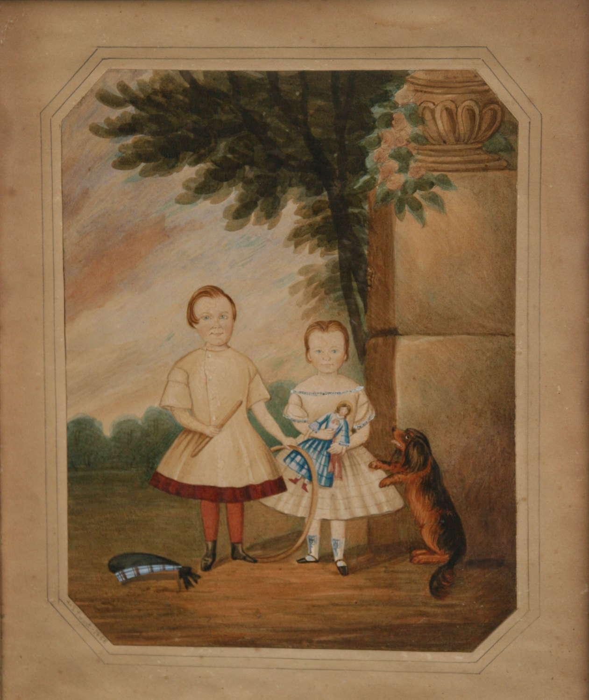Naive Watercolour 1858