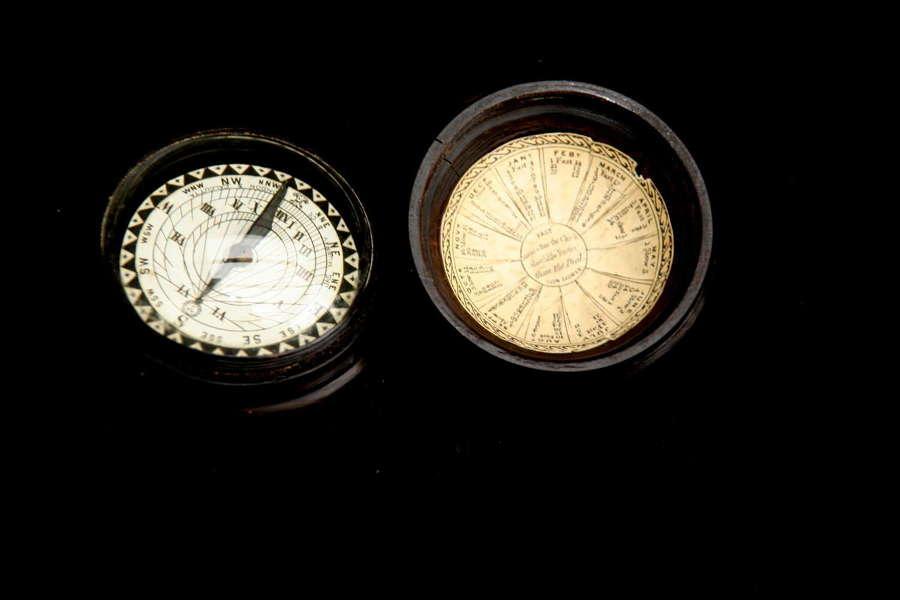 Treen Pocket Sundial early 19th century