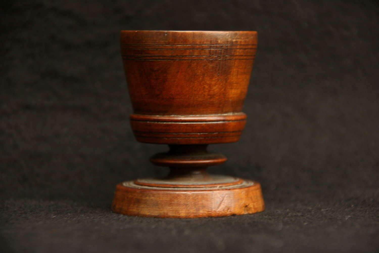 Treen salt / egg cup 18th century