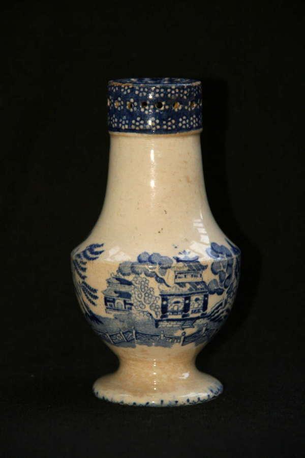 Victorian Blue and White ceramic Pepper pot