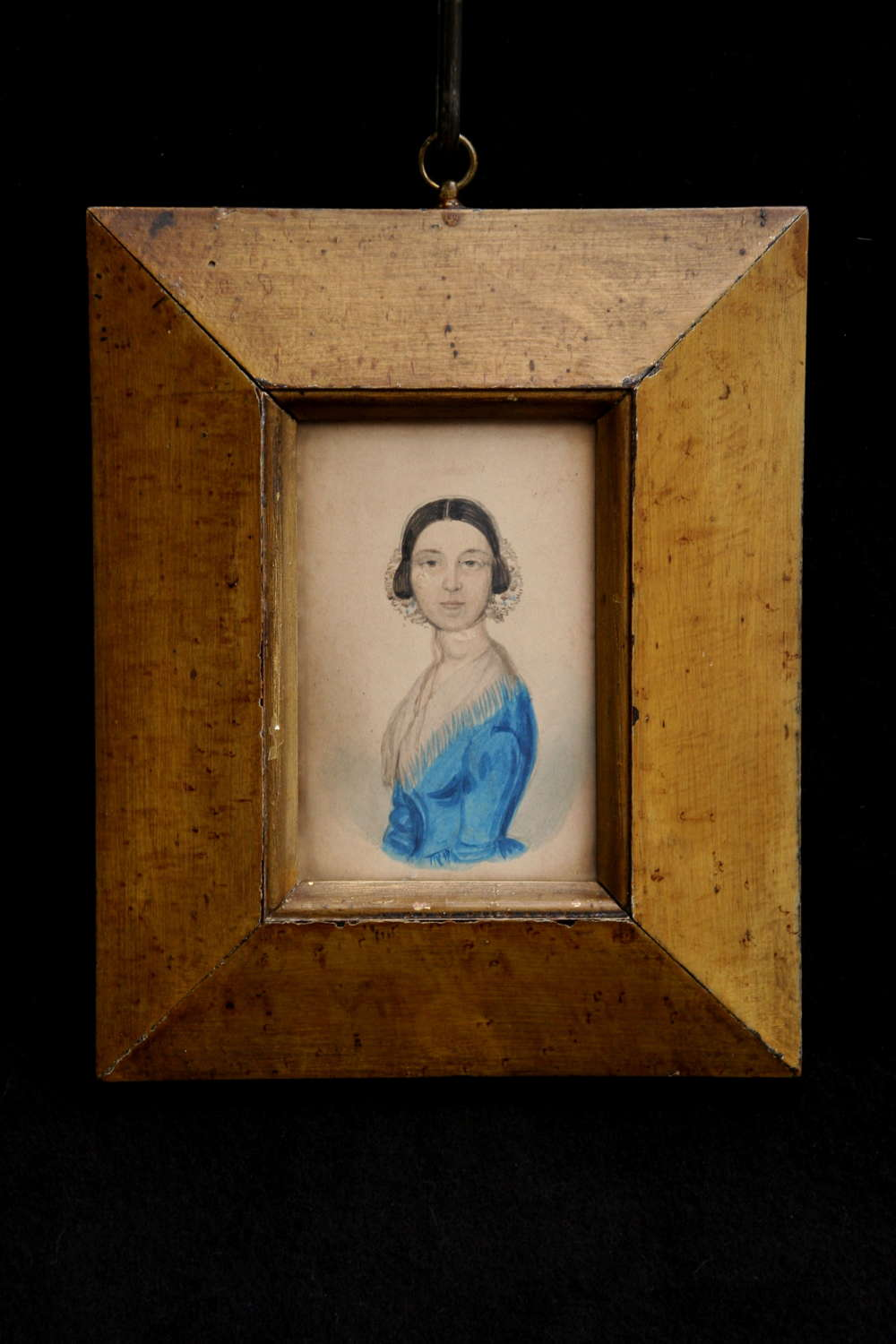 Framed Engish early 19th Century Portrait of a Lady