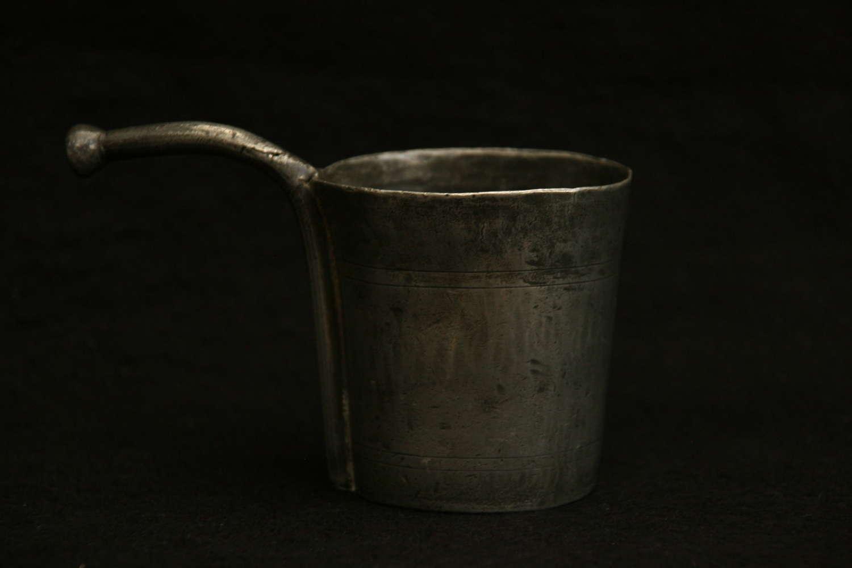 Dutch pewter 18th century Baby Feeder pot.