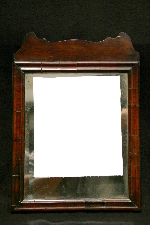 English 18th Century Yew Mirror