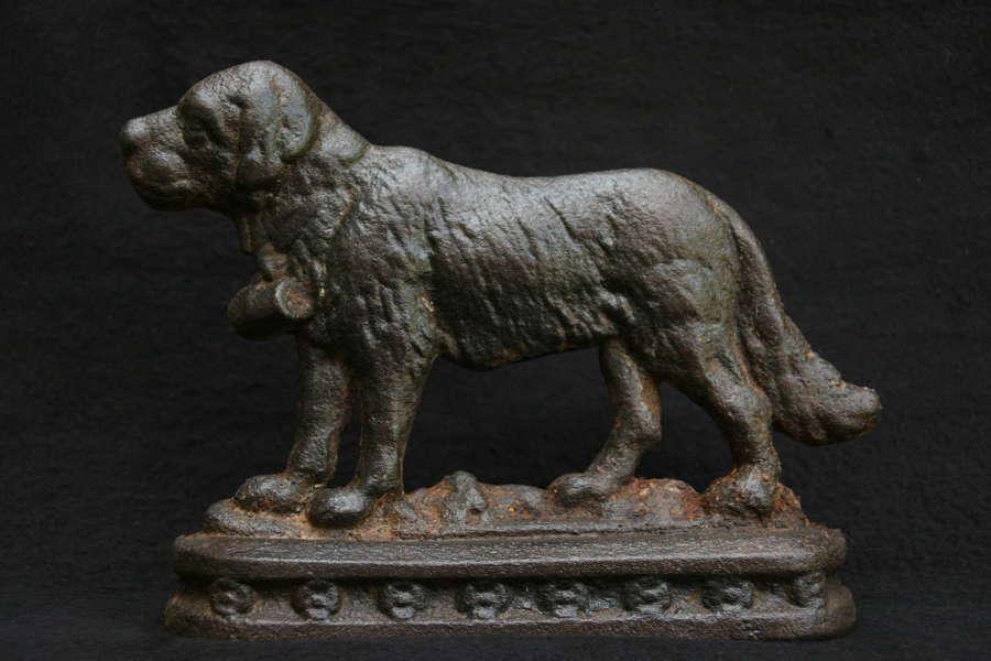 Dog Form cast iron 19th Century Door stop / Chimney Ornament