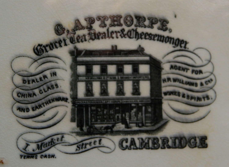 Grocer,Tea Dealer & Cheesemonger Advertising plate