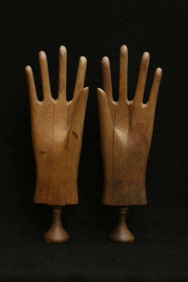 A Pair of Glove Driers c.1900