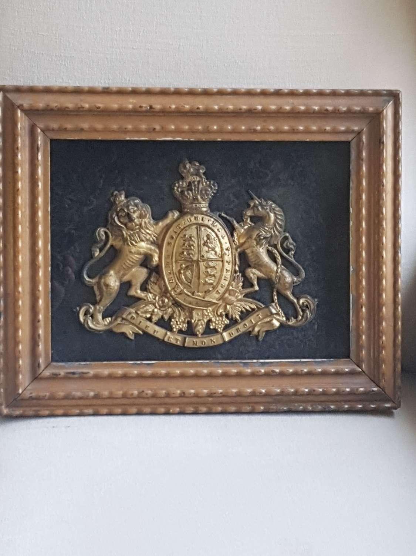 Framed Victorian Armorial