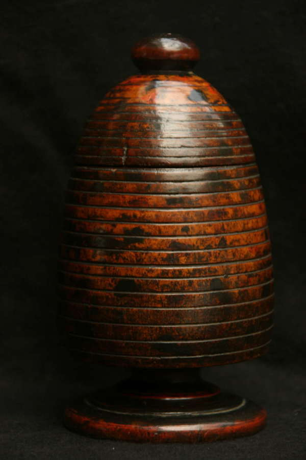 Treen Beehive shaped Spice Pot, c.1780