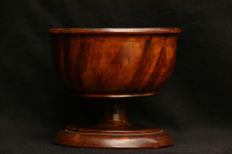 Large Treen Salt / Sugar Bowl c.1830
